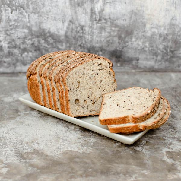 Pan de caja integral con semillas